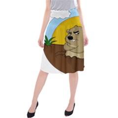 Groundhog Day Midi Beach Skirt