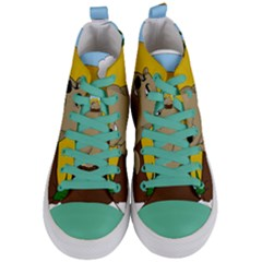 Groundhog Day Women s Mid Top Canvas Sneakers