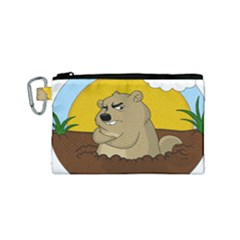 Groundhog Day Canvas Cosmetic Bag (small)