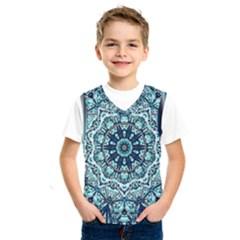 Green Blue Black Mandala  Psychedelic Pattern Kids  Sportswear