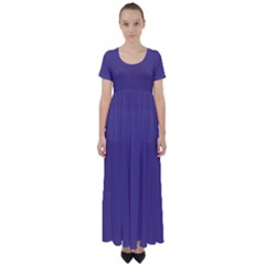 Color Of The Year 2018   Ultraviolet   Pure&basic High Waist Short Sleeve Maxi Dress