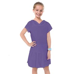 Color Of The Year 2018   Ultraviolet   Pure&basic Kids  Drop Waist Dress