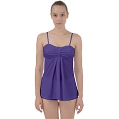 Color Of The Year 2018   Ultraviolet   Pure&basic Babydoll Tankini Set