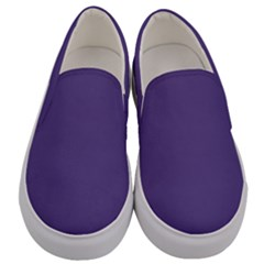 Color Of The Year 2018   Ultraviolet   Pure&basic Men s Canvas Slip Ons