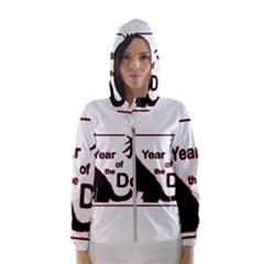 Year Of The Dog   Chinese New Year Hooded Wind Breaker (women)