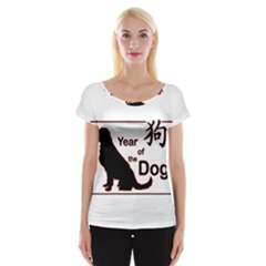 Year Of The Dog   Chinese New Year Cap Sleeve Tops
