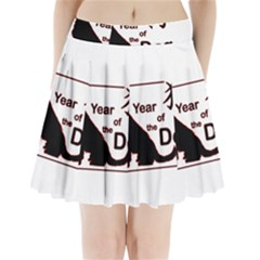 Year Of The Dog   Chinese New Year Pleated Mini Skirt