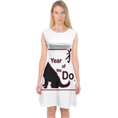 Year Of The Dog   Chinese New Year Capsleeve Midi Dress