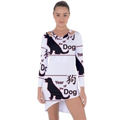 Year Of The Dog   Chinese New Year Asymmetric Cut Out Shift Dress