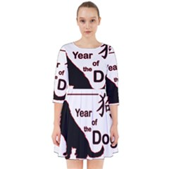 Year Of The Dog   Chinese New Year Smock Dress