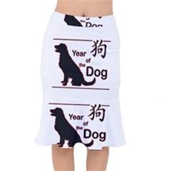 Year Of The Dog   Chinese New Year Mermaid Skirt