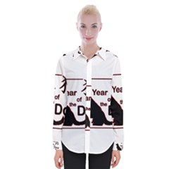 Year Of The Dog   Chinese New Year Womens Long Sleeve Shirt