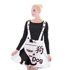 Year Of The Dog   Chinese New Year Suspender Skater Skirt