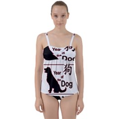 Year Of The Dog   Chinese New Year Twist Front Tankini Set