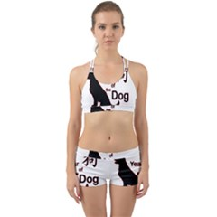 Year Of The Dog   Chinese New Year Back Web Sports Bra Set