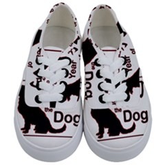 Year Of The Dog   Chinese New Year Kids  Classic Low Top Sneakers
