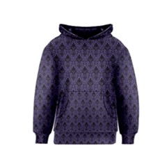 Color Of The Year 2018   Ultraviolet   Art Deco Black Edition Kids  Pullover Hoodie