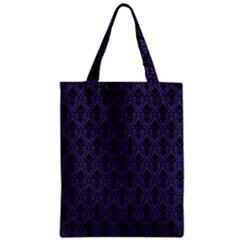 Color Of The Year 2018   Ultraviolet   Art Deco Black Edition Zipper Classic Tote Bag