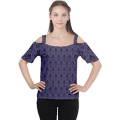 Color Of The Year 2018   Ultraviolet   Art Deco Black Edition Cutout Shoulder Tee