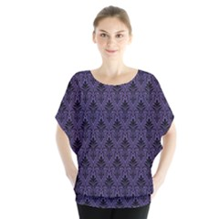Color Of The Year 2018   Ultraviolet   Art Deco Black Edition Blouse