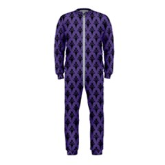 Color Of The Year 2018   Ultraviolet   Art Deco Black Edition  Onepiece Jumpsuit (kids)