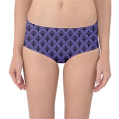 Color Of The Year 2018   Ultraviolet   Art Deco Black Edition  Mid Waist Bikini Bottoms