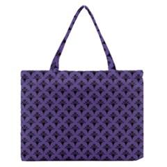 Color Of The Year 2018   Ultraviolet   Art Deco Black Edition  Zipper Medium Tote Bag