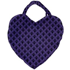 Color Of The Year 2018   Ultraviolet   Art Deco Black Edition  Giant Heart Shaped Tote