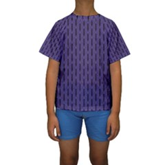 Color Of The Year 2018   Ultraviolet   Art Deco Black Edition Kids  Short Sleeve Swimwear
