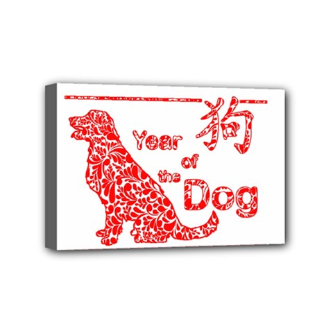 Year Of The Dog   Chinese New Year Mini Canvas 6  X 4