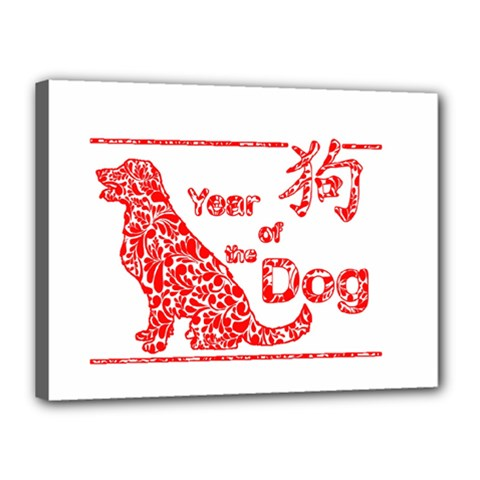 Year Of The Dog   Chinese New Year Canvas 16  X 12