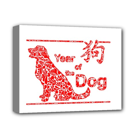 Year Of The Dog   Chinese New Year Deluxe Canvas 14  X 11