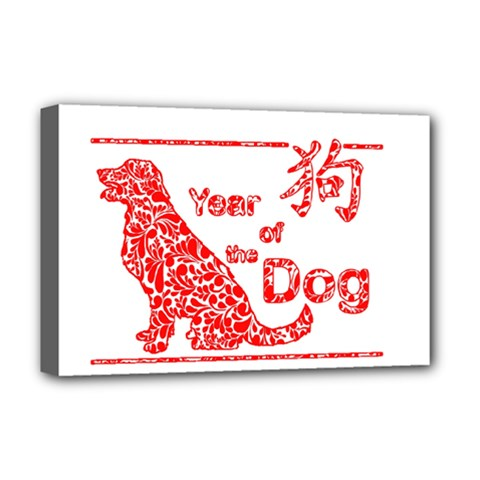 Year Of The Dog   Chinese New Year Deluxe Canvas 18  X 12