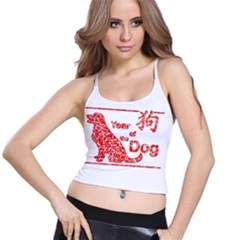 Year Of The Dog   Chinese New Year Spaghetti Strap Bra Top