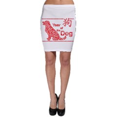 Year Of The Dog   Chinese New Year Bodycon Skirt