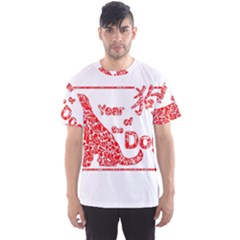 Year Of The Dog   Chinese New Year Men s Sports Mesh Tee