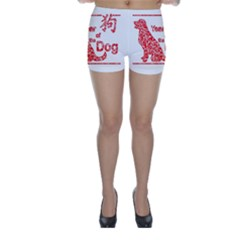 Year Of The Dog   Chinese New Year Skinny Shorts