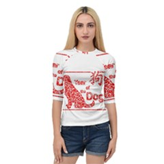 Year Of The Dog   Chinese New Year Quarter Sleeve Raglan Tee