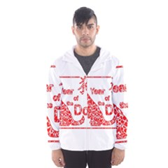 Year Of The Dog   Chinese New Year Hooded Wind Breaker (men)