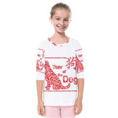 Year Of The Dog   Chinese New Year Kids  Quarter Sleeve Raglan Tee
