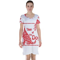 Year Of The Dog   Chinese New Year Short Sleeve Nightdress