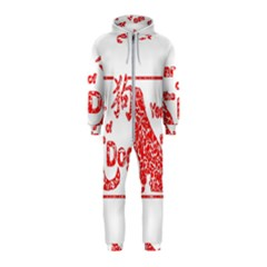 Year Of The Dog   Chinese New Year Hooded Jumpsuit (kids)