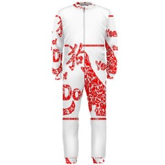 Year Of The Dog   Chinese New Year Onepiece Jumpsuit (men)