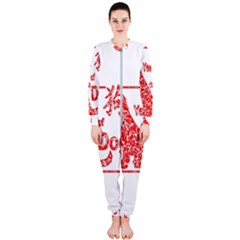 Year Of The Dog   Chinese New Year Onepiece Jumpsuit (ladies)