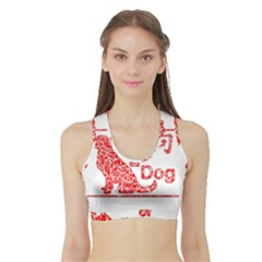 Year Of The Dog   Chinese New Year Sports Bra With Border