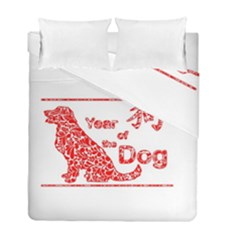Year Of The Dog   Chinese New Year Duvet Cover Double Side (full/ Double Size)