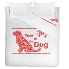 Year Of The Dog   Chinese New Year Duvet Cover Double Side (queen Size)