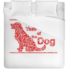 Year Of The Dog   Chinese New Year Duvet Cover Double Side (king Size)