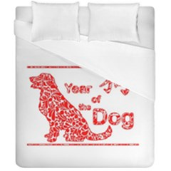 Year Of The Dog   Chinese New Year Duvet Cover Double Side (california King Size)