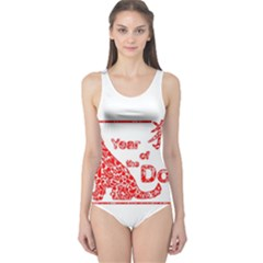 Year Of The Dog   Chinese New Year One Piece Swimsuit